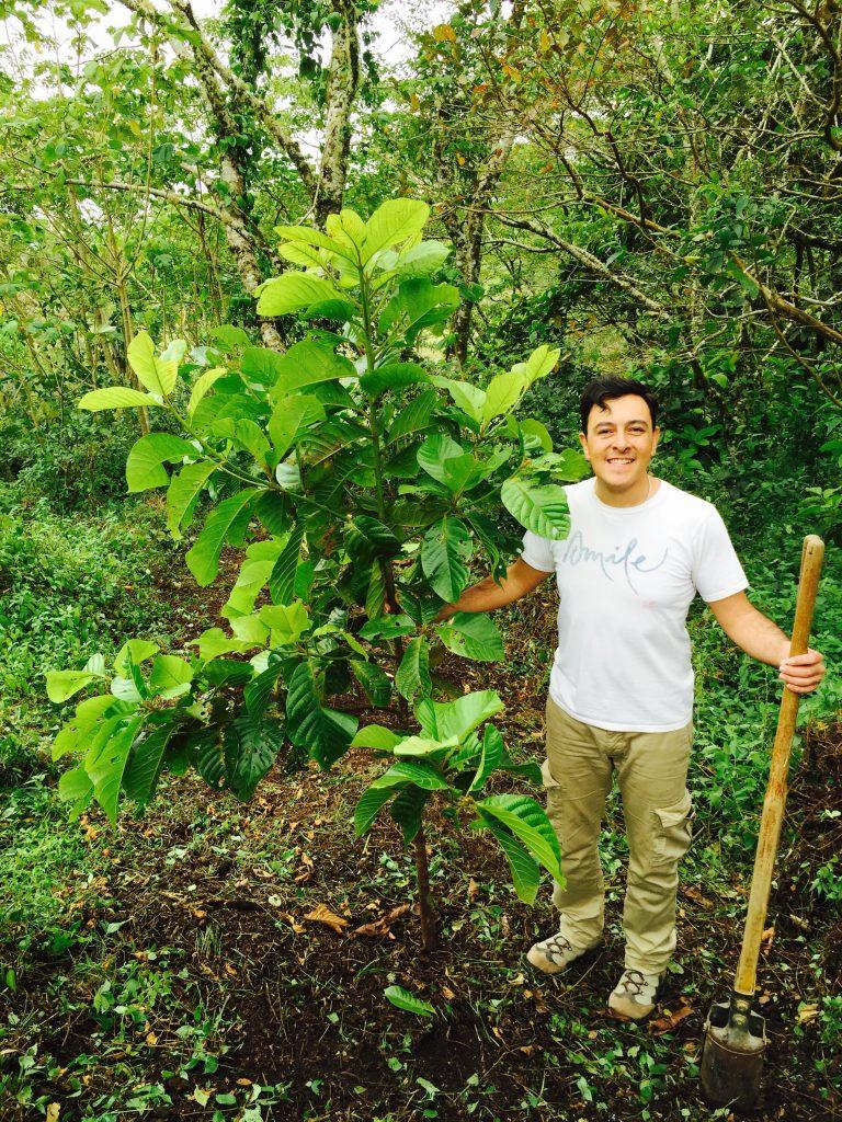 Wake Up Mexico Rogelio planting tree