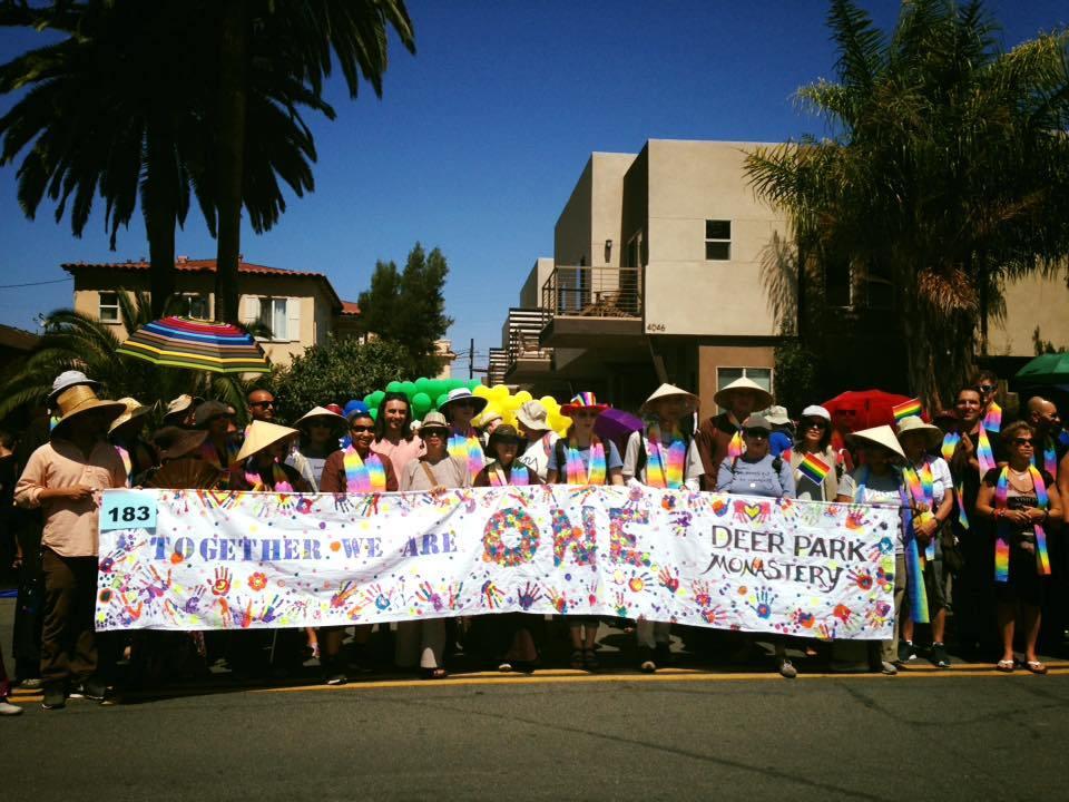 Pride Parade with Deer Park Monastery monastics
